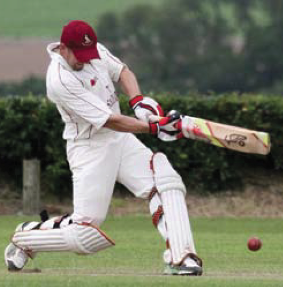 Adam Chandler: 123 not out for star man (Pic Susan McKehon)