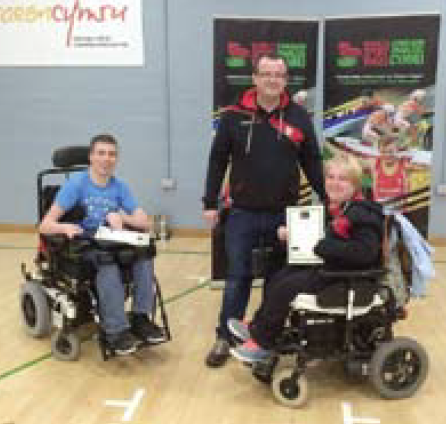 Sian Thomas: With David Smith and Gerwyn Owen Disability Sport Wales Academy Manager