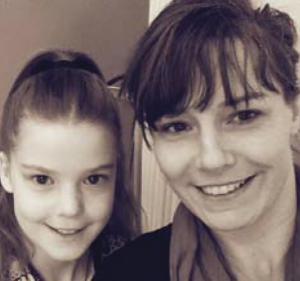 With daughter Daisy: Emma Howells, Pembroke allergy support group founder