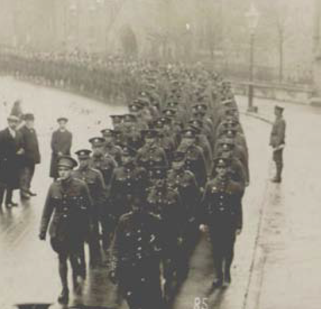 Kings Shropshire Light Infantry: Marching through Tenby