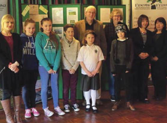 The prizewinners and judges of the schools poetry competition