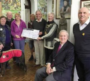 (Left to right) Cllr Rose and Keith Blackburn: With Gracie, Cllr Linda Asman, Stuart Asman, Peter Thomas (Chairman of PCT), Pembroke Mayor Cllr Pauline Waters, Tony Thomas (President of PCT) and Roy Smith