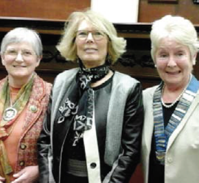 Gaynor Edwards: Supported by President Elect, Perys Worth, and Vice President, Julia Miles