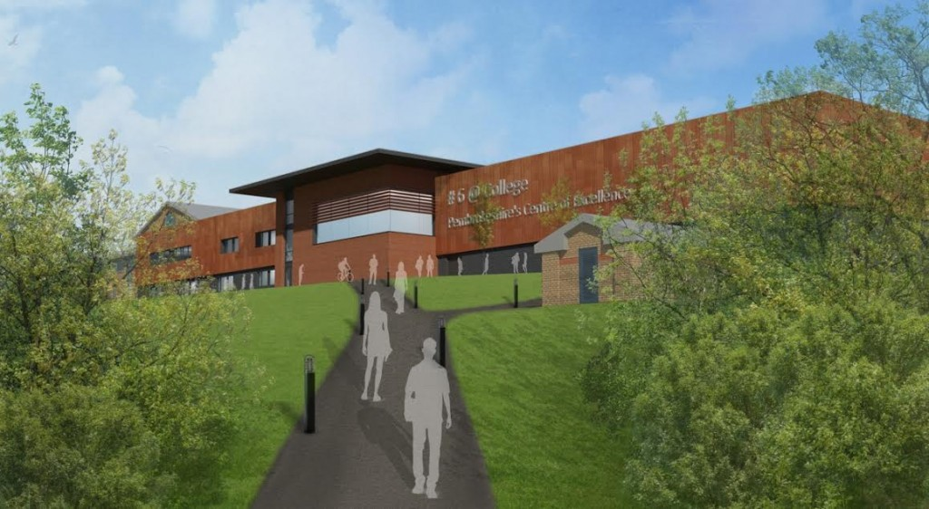 Artist impression of the extension