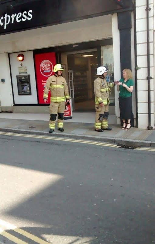 Fire officers at Tesco, Tenby on May 23 (Massive Mike Photography)
