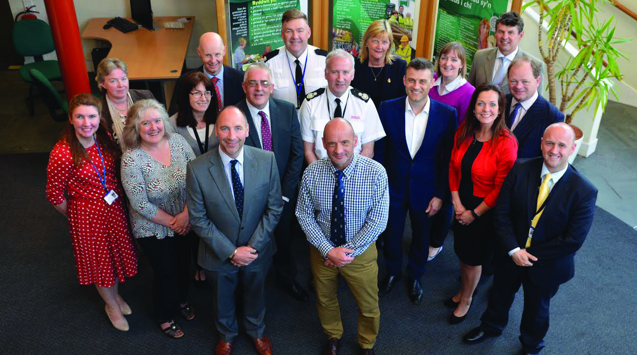 Representatives of local organisations gather in County Hall: Prior to the first meeting