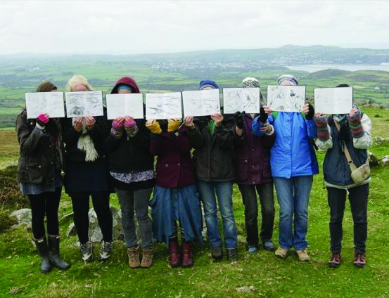 Coast Lines inspires: Fishguard community group recruit sketchers to express the beautiful sights around the north of the county