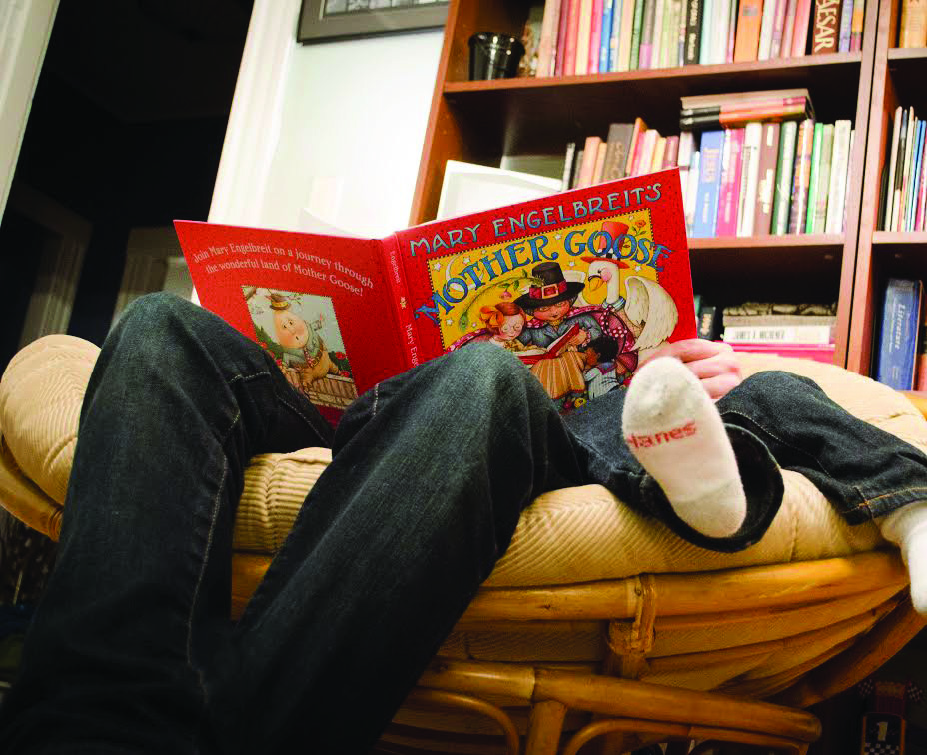 Encouraged to read: Bookish charity BookStart found that only 37% of children in Wales are read to before bed