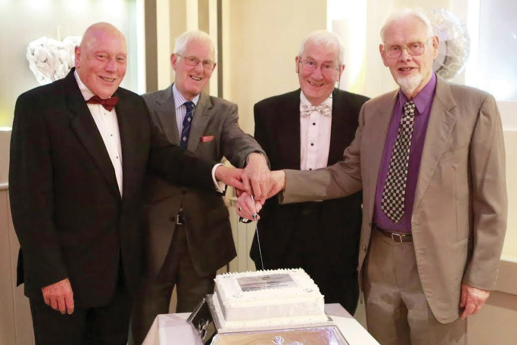 'The Vision Moves On': Four former chairmen came together to cut the beautifully decorated anniversary cake