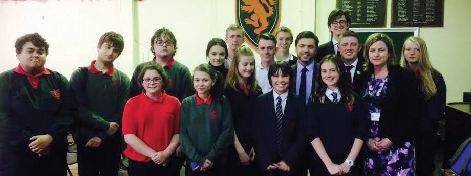 Returning to Tasker Milward School: Preseli Pembrokeshire MP Stephen Crabb talked to students about life as an MP and UK politics
