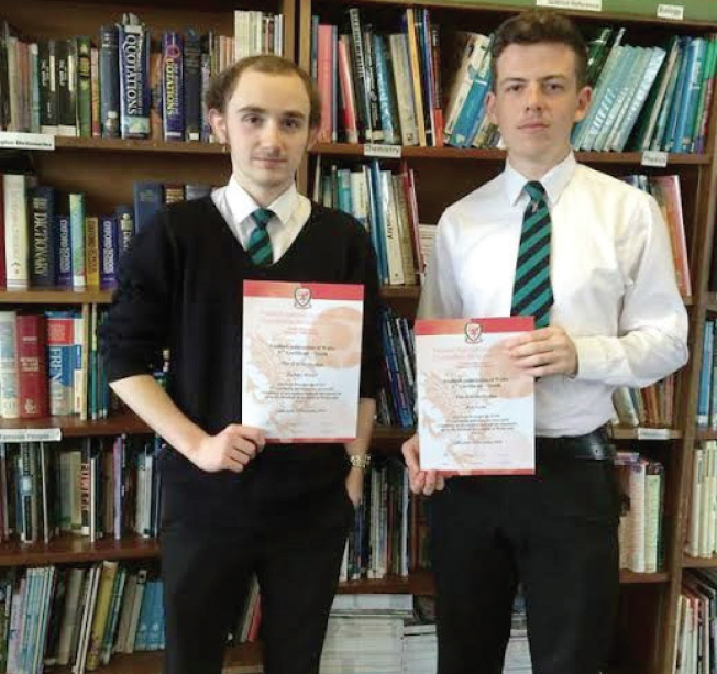 School Sports Ambassadors Ben and Zac: The two sixth formers recently completed their Football Level 2C Award