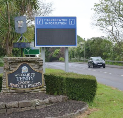 'Eyesore': The new sign has 'spoiled the aesthetics' of the welcome to Tenby