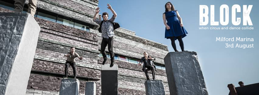 29.07.16- Outdoor performances of Block will take place at Milford Marina on 3rd August