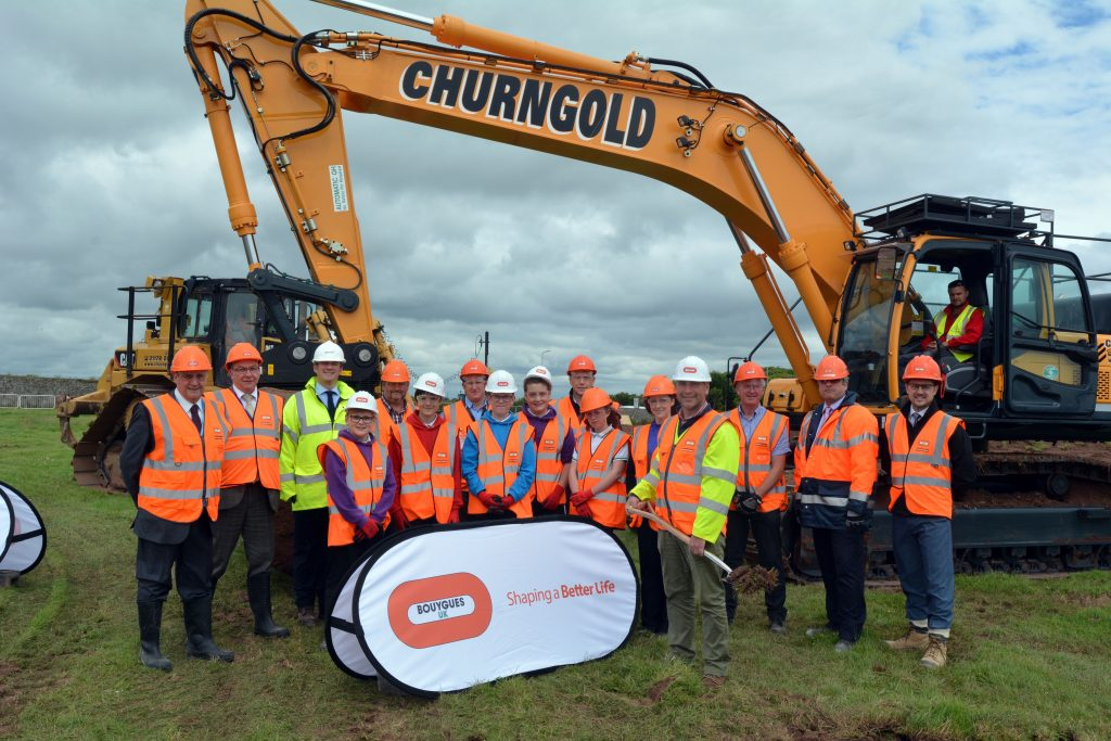 Participants pictured at the turf cutting ceremony at the Pembroke site.