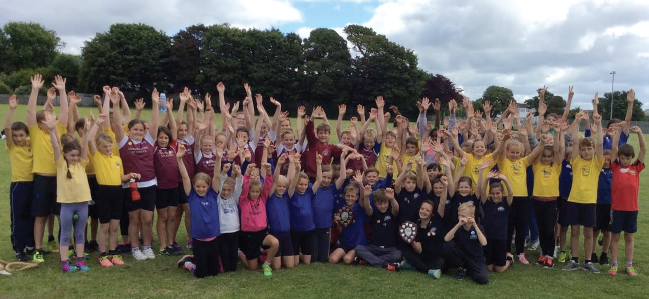 Junior Area Sports: All athletes who took part in the event