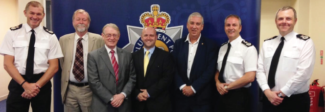 The four Police and Crime Commissioners for Wales: Gwent's Jeff Cuthbert, South Wales's Alun Michael, Dyfed-Powys's Dafydd Llywelyn and North Wales's Arfon Jones.