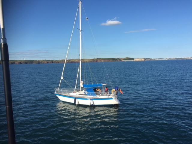 Yacht towed to Dale on July 18 by Angle lifeboat