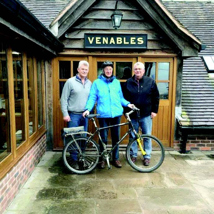 Dick Venables cycled 216 miles: He has so far raised £10,275 for a children's shelter in India