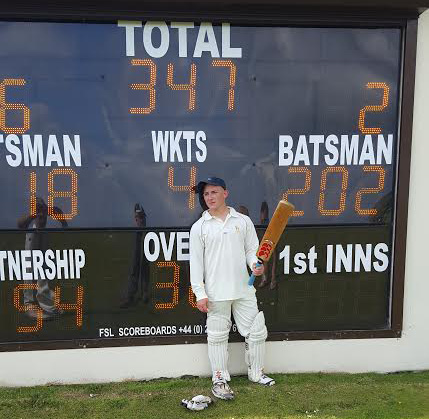 Outstanding: Jake Griffiths scored an excellent double century for Lamphey • Pic: Martin Jones