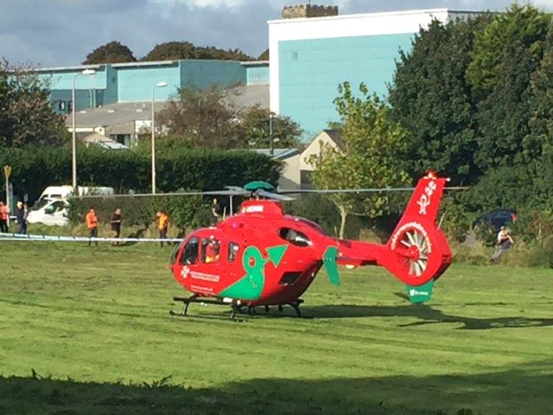 Wales Air Ambulance: At the scene (pic. Herald Reporter)