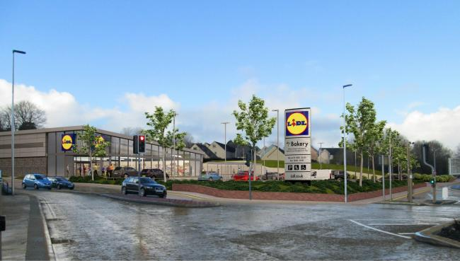 Bigger Lidl: A render of what the new store will look like (pic. Boyes Rees Architects)