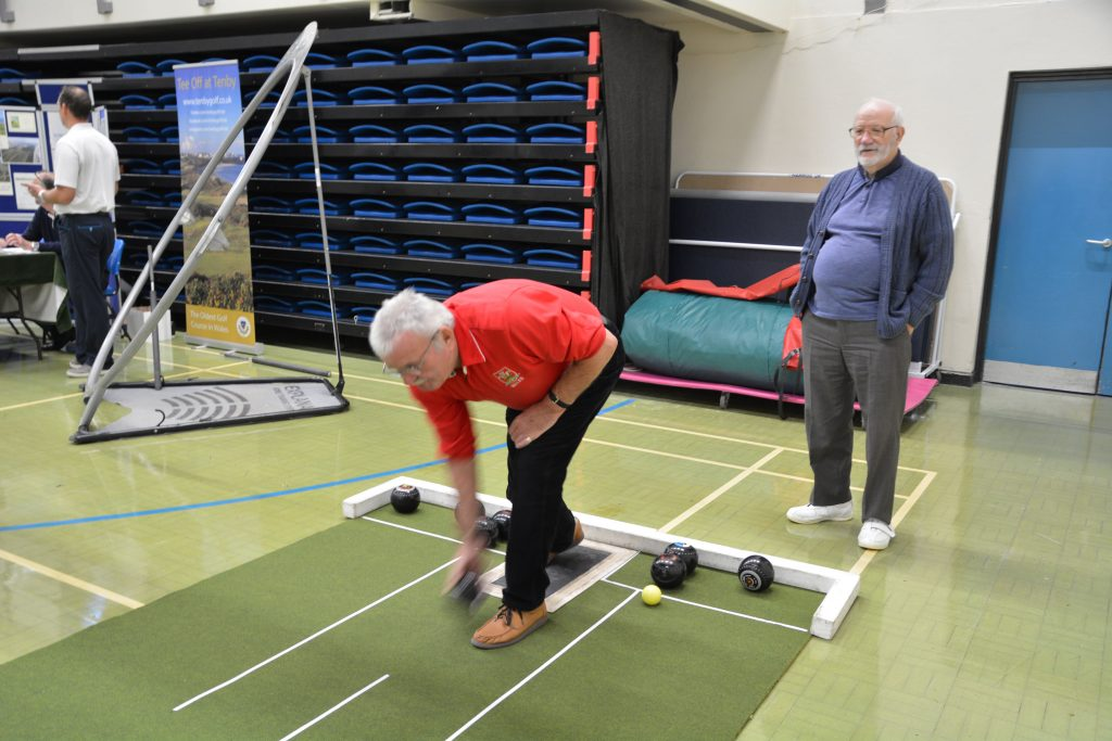 One of the exercise taster sessions held on the day.