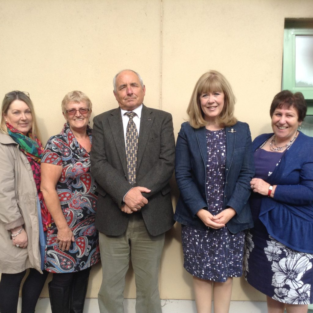Jenny  is pictured with Natalie Hardess, Helen Williams and chair of the local Magistrates Association Glyn Evans, and Lord Lieutenant of Dyfed, Sara Edwards.