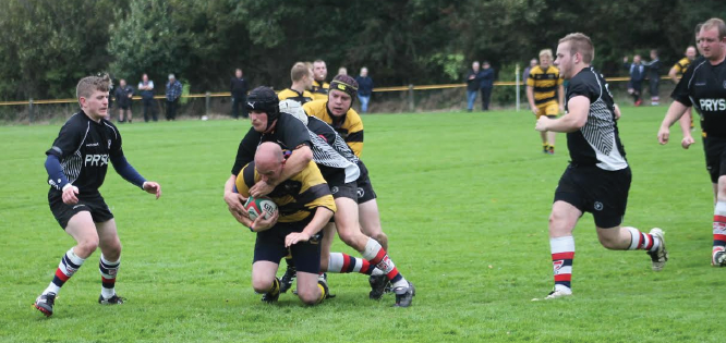 Close: Llangwm battled well but were held up by Tregaron