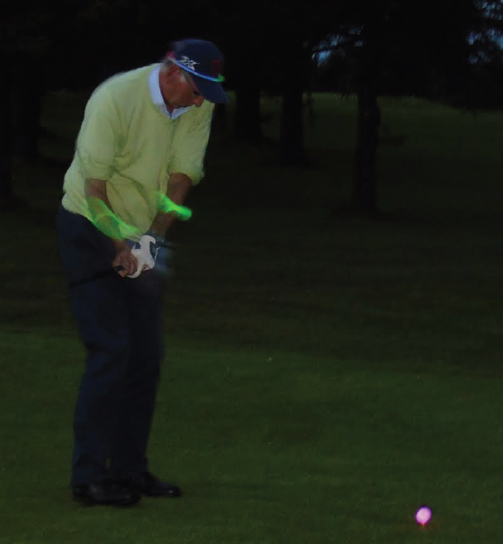 Teeing off: Luminous balls