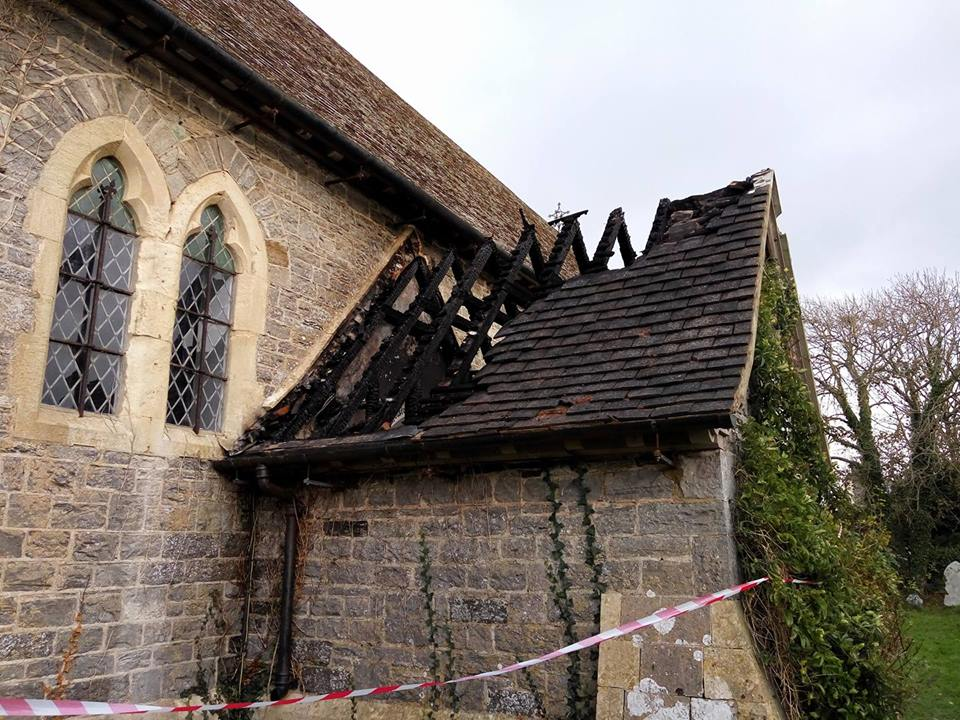 Destroyed: The entrance suffered major damage (pic. Justine Ward)