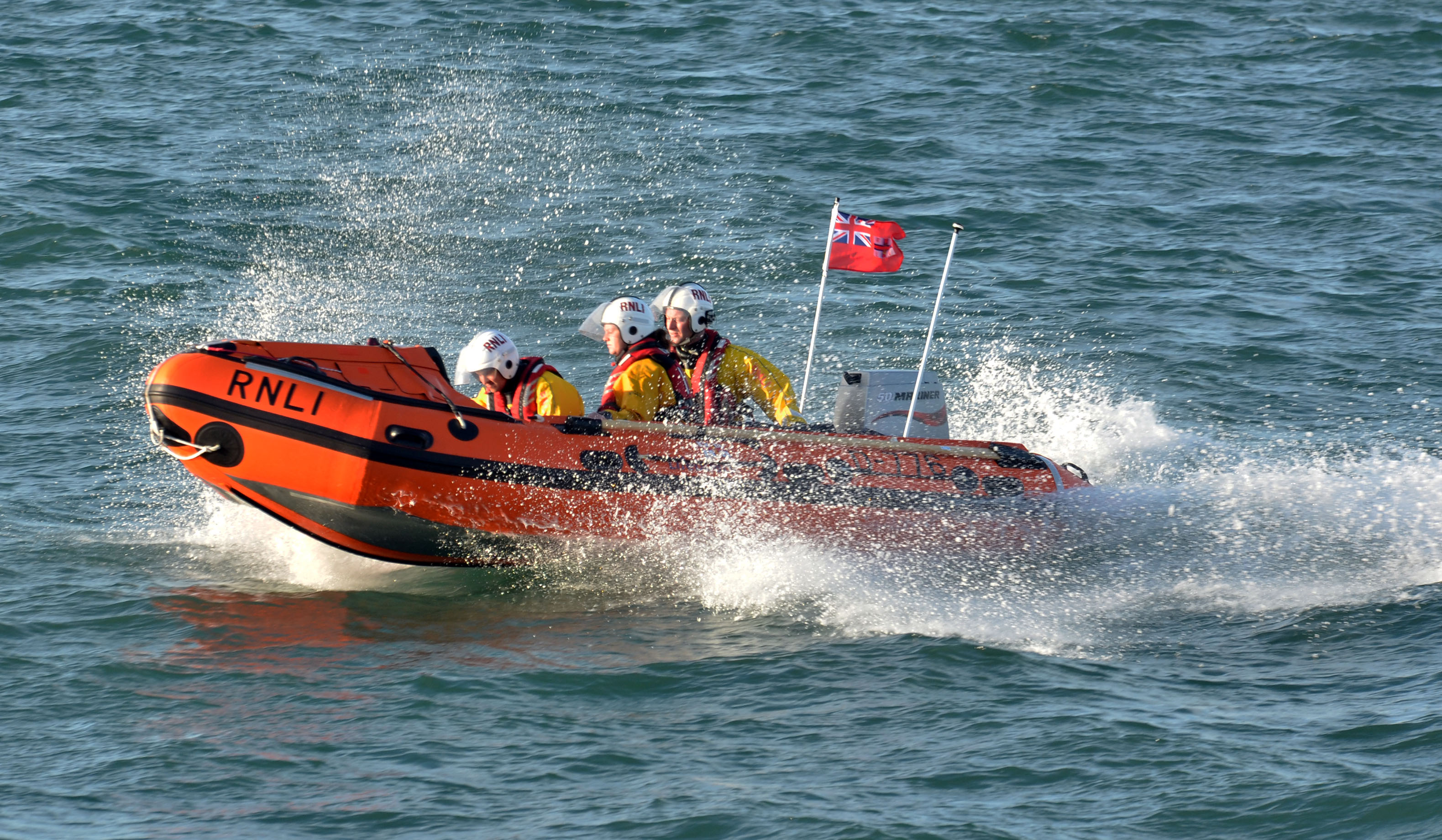 Angle RNLI's D class inshore lifeboat, SuperG II. Photo: Angle RNLI.