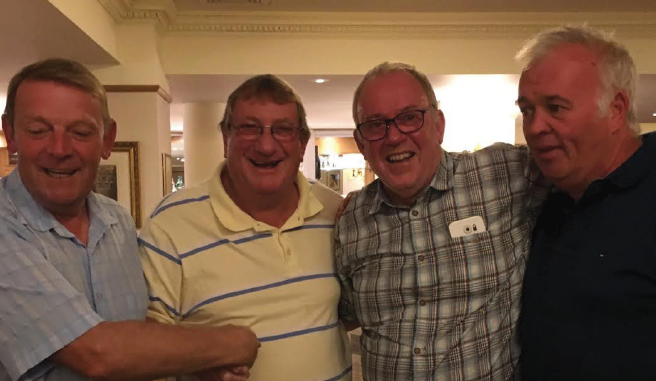 Monday's Team Prize: Bob Forrest (first Monday), Martin Davies (second Sunday), Wynne Richards (overall champion) and Paul Marsden