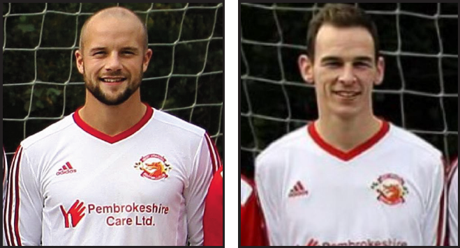 Hat trick double: Nathan Greene and Scott Crawford both scored hat tricks