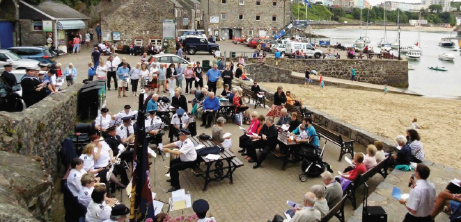 The Salvation Army: Bringing music to Tenby harbour in 2016