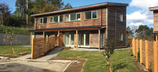 The finished product: A 'Ty Solar' at the Pentre Solar hamlet