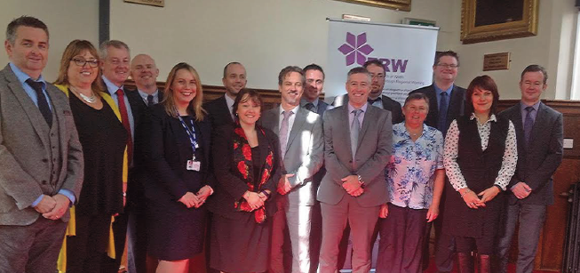 NPQH candidates: With Barry Rees, Director of Learning and Partnership for Ceredigion County Council and Tom Fanning, ERW's Programme co-ordinator for the New Deal