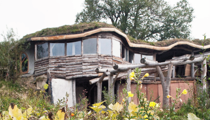 The exterior: The eco home took four years to build (Pic. Grand Designs)
