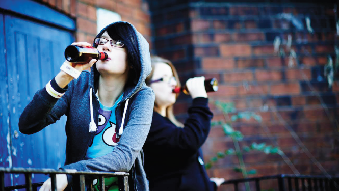 Young people: More likely to binge drink