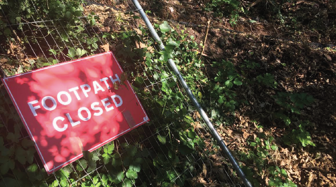 Closed for safety: Path was shut in 2014