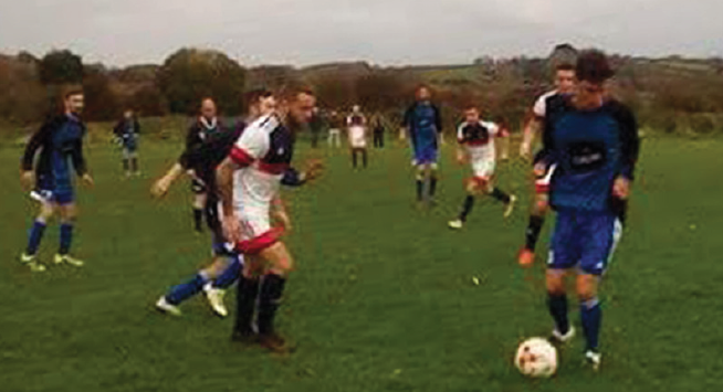 Tight: Lamphey and Angle played out a 3-3 draw on Saturday
