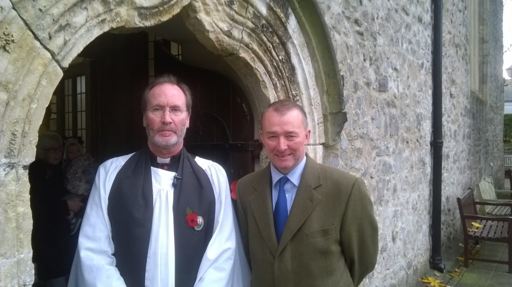 Tenby Rector Revd Canon Andrew Grace and Simon Hart MP: Coming together to raise money for Syria.