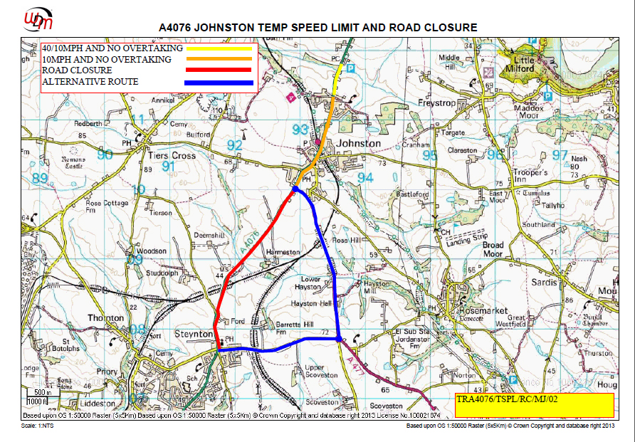 Johnston Road Closure