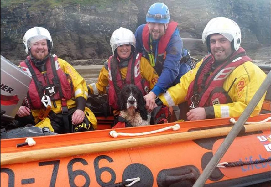 Rescued: George with the RNLI