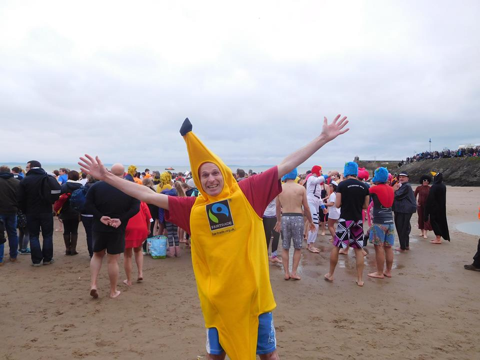 Fancy dress: Many people dressed up in Saundersfoot (pic. Fair Trade Ways Wales)