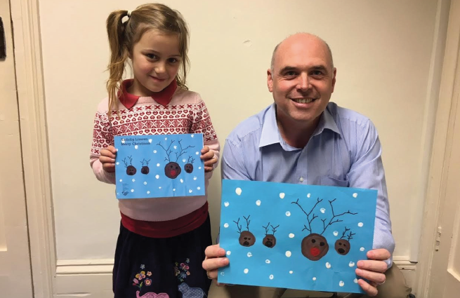 Local AM Paul Davies: With Amelie Dash and her winning Christmas card