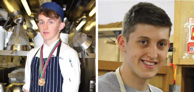 Won bronze in the Professional Cookery competition: Sam Everton (Left) Christopher Caine, apprentice with Keating Joinery: Silver medal winner (Right)